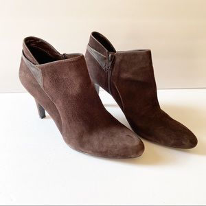 Bandolino Brown Suede Ankle Booties